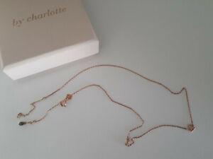 By Charlotte lotus rose gold necklase
