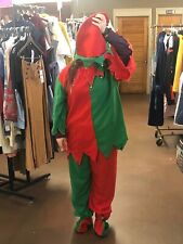 Santa/'s Workshop Elf Adult Women/'s Christmas Holiday Costume Red Overalls SM-XL