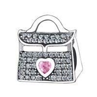 Women Handbag European 925 silver charms bead for bracelet chain necklace bangle