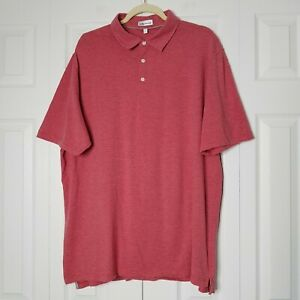 Peter Millar Mens Short Sleeve Soft Polo Shirt Red Horizontal Stripe XXL