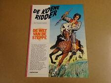 STRIP / DE KOENE RIDDER - DE WET VAN DE STEPPE