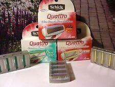 Schick Quattro for Women Razor Refill Cartridges 12 COUNT Ultra Smooth Sexy Legs