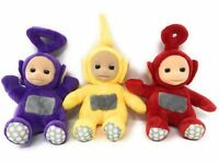 Teletubbies SET OF 3 Official Soft Toys - LAA LAA Tinky Winky & PO Read Descrip