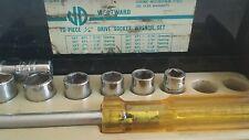 """Westward 10 piece 1/4"""" Drive Socket Wrench Set in Metal Box"""