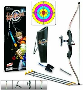 Kids Extra Large Bow And Arrow Archery Set Target Outdoor Garden Fun Game Gifts