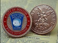 US City Boston Police Department Duty&Honor Saint Michael Challenge Coin Gift