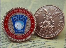 US City Of Boston Police Department Saint Michael Challenge Coin Art Collectible