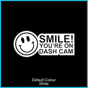 Smile dashcam sticker, decal, N2064,  Window, Camera, Funny, CCTV, HD, Recording