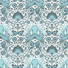 "OOP "" SALT WATER - Octopus Garden Aqua by Tula Pink cotton quilting fabric"