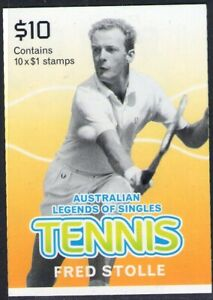 2016 STAMP BOOKLET AUSTRALIAN TENNIS LEGENDS  - FRED STOLLE - 10 x $1 MUH