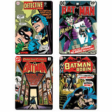 BATMAN COMIC COVER SET OF 4 COASTERS DC RETRO DRINKS MAT ROBIN JOKER DETECTIVE