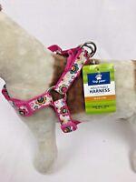 Adjustable Dog Medium Harness  Pet Walking Pink Harness Top Paw M