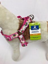 Adjustable Dog Medium Harness  Pet Walking Pink Harness Top Paw M