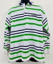 Vintage Tommy Hilfiger Athletic Gear Striped Button Up Long Sleeve 90s Sz Medium
