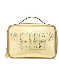 Victoria's Secret makeup Gold Jetsetter Travel Case makeup beauty bag 3 set