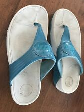 Toe Post Fit Flops Sandals In Turquoise Blue Size 5 Good Condition Beach Summer