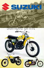 Vintage Motocross Suzuki poster