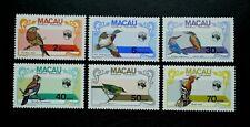 More details for macau - 1984 - ausipex '84 birds - set - sg: 592/97 - mint never hinged