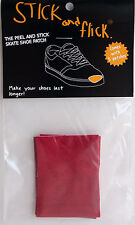 Shoe Goo alternative - Stick & Flick Patches - Red - Skate shoe repair