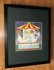 """Enfants art de mur, Cathi merlan, 20"""" x16"""" frame, carousel IMPRIME"""