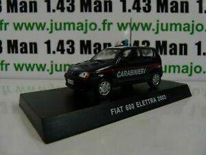 CR22 Car 1/43 Carabinieri: Fiat 600 Elettra 2003