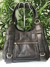 Saddler Handbag Brown Quality Pebble Leather Gold Hware Great Design . VGC