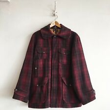 True Vintage 1940s USA Woolrich Mackinaw Hunting Field Check Jacket Coat M 40