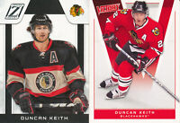 Duncan Keith Lot of 2 different 2010-11 Chicago Blackhawks Hockey Cards
