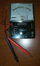 Vintage Sanwa U50D Analog Multimeter w/Leads Japan