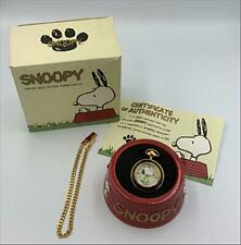 FOSSIL Snoopy Pocket Watch 500 Only limited Edition Very Rare From Japan F/S