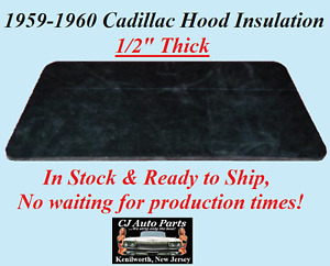 """REM 1959-1960 CADILLAC HOOD INSULATION PAD 1/2"""" THICK - IN STOCK"""