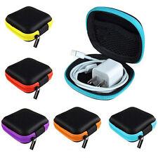 Pocket Hard Case Storage Bag for Headphone Earphone Earbuds TF SD Card Black Hot