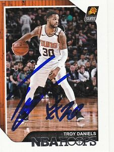 TROY DANIELS PHOENIX SUNS SIGNED CARD ROCKETS LAKERS GRIZZLIES HORNETS NUGGETS