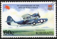 GRUMMAN G-21 GOOSE Flying Boat Seaplane WWII Aircraft Stamp (1995 Kiribati)