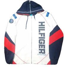 Vintage Tommy Hilfiger Athletics DIVE TEAM RARE Patch White Zip Up Hoodie Size L