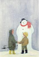 Kunstkarte: Margaret Loxton - Der Schneemann