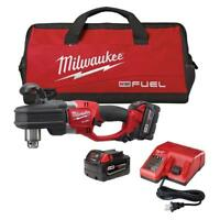 "NEW MILWAUKEE 2707-22 18v Cordless Hole Hawg 1/2"" Right Angle Drill Kit"