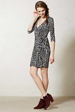 NWT ANTHROPOLOGIE LENA BLACK WRAP DRESS by VANESSA VIRGINIA M