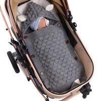 Newborn Infant Baby Boy Girl Swaddle Sleeping Sack Bag Wrap Stroller Bed Blanket