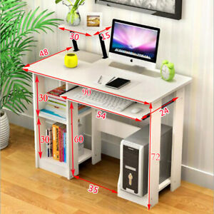 90cm Computer Desk PC Table Kids Writing Home Office Worksation White Small UK