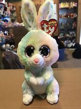 "Ty Bubby -Multicolor Pastel Easter Rabbit 6"" Beanie Boo! *Retired* Rare & Vhtf!"