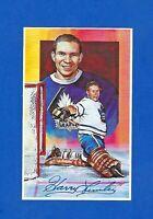 1992 Legends of Hockey Series #1 HARRY LUMLEY HOF NM  AUTOGRAPH MAPLE LEAF