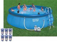 "Intex 18' x 48"" Easy Set Swimming Pool Kit w/ 1500 GPH GFCI Filter Pump, 26175EH"