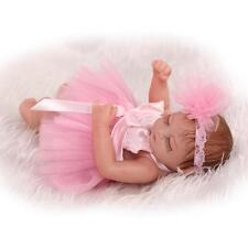 "Reborn Baby Mini 10"" Handmade Vinyl Silicone Dolls Lifelike Doll Sleeping Girl"