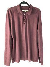 Tommy Bahama Long Sleeved Shirt Maroon Size XL