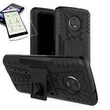 pour Motorola Moto G6 Plus HYBRID ETUI extérieur 2 pièces COUVERCLE NOIR + H9