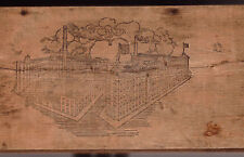Early 1900s Croft & Allens Breakfast Cocoa Wood Box Philadelphia PA Wilbur Candy