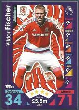 TOPPS MATCH ATTAX 2016-17 #213-MIDDLESBROUGH-VIKTOR FISCHER