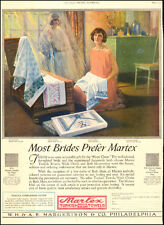 1925 vintage AD Most Brides Prefer MARTEX Turkish Towels for Hope Chest  082217