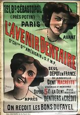 LEON POUSTHOMIS AFFICHE LITHOGRAPHIE 1900 AVENIR DENTAIRE FRENCH VINTAGE POSTER